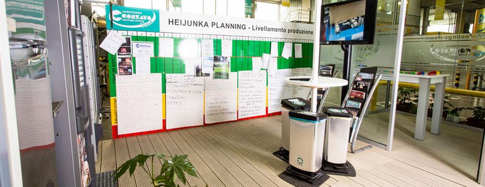 Green zone con area caffé utilizzata anche per meeting veloci